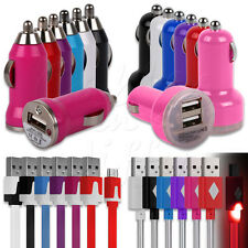 IN CAR CHARGER ADAPTOR + MATCHING MICRO USB DATA CABLE FOR HTC MOBILE PHONES