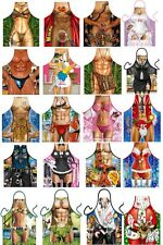 funny BBQ aprons 12 Motifs Barbecue Accessories Aprons Cooking Bbq Apron apron