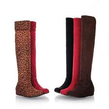New Elastic Women Jackboot Within Increase Boots Sexy Leopard Waterproof Casual