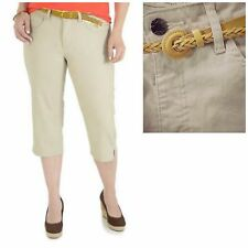 Riders by Lee  Capri Pant with Braided Belt Slender Stretch Holds Shape 12
