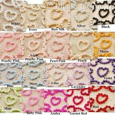 1000 Pearlized Beaded Heart Rhinestones Scrapbooking Card Making Craft