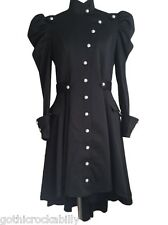 Black Steampunk Gothic Victorian Asymmetric Coat Dress