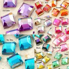 4mm Square Mosaic AB Colour Rhinestone Flat Back Bling Scrapbooking