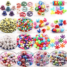 Mixed Colorful Skull Round Snowflake 20 Style Loose Spacer Beads Jewelry Making