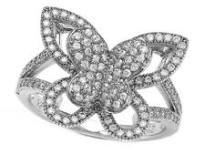 Zoe R 925 Sterling Silver Micro Pave Hand Set Cubic Zirconia (CZ) Butterfly Ring