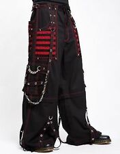 Tripp Nyc Red Electro Rave Bondage Pants Club Party Goth Skater Punk Rock S-3Xl