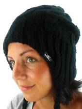 O ' Neill Winter Knitted Beanie Hat Peruvian Cable Black Zopf