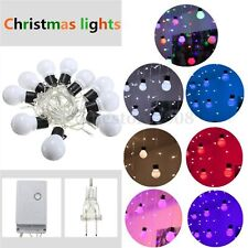 Colourful 48 LED Bulb Icicle Fairy Light String Wedding Xmas Party Decoration