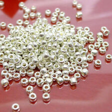 500/1000Pcs Silver Plated Crafts Metal Loose Spacer Beads Jewelry Findings 2MM