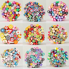 10/20/50X Nail Art Fimo Canes Sticks Rods Polymer Clay Stickers Tips Decoration