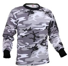 t-shirt camo long sleeve city urban camouflage cotton poly blend rothco 67790