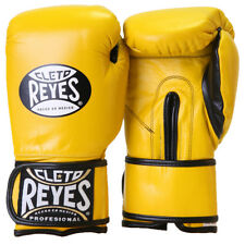 Cleto Reyes Hook and Loop Leather Training Boxing Gloves - Yellow