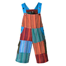 Patchwork Kids bib trousers multicoloured Hippie Overalls