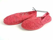 NEW Faded Glory Girl's Casual Slip-on Shoe Coral SZ6 Free Shipping