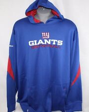 NEW Mens REEBOK New York NY GIANTS NFC Football Hoodie Blue NFL Sweatshirt