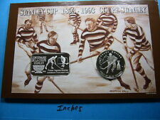STANLEY CUP HOCKEY CENTENNIAL 1893-1993 NHL VINTAGE 999 SILVER BAR COIN 100 MADE