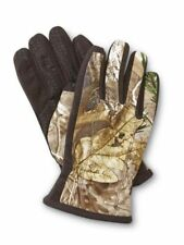 Isotoner Smart Touch Mens Brown Camouflage Touchscreen Texting Gloves Smartouch