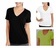 NEW Danskin Now Womens' Semi-fitted Performance Core V-Neck Tee Short Sleeve