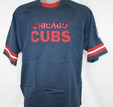 NEW Mens Lee Sport Chicago Cubs National League Blue Stitched Baseball T-Shirt