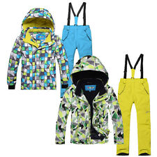 Kids' Outdoor Waterproof Padded Snow Ski Suits Jacket Parka Skiing Salopettes