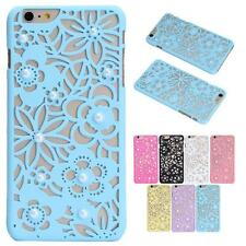 For iPhone 6S&6S Plus New Elegant Pearl Flower Hollow Out Hard light Case Cover