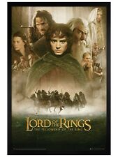 Lord of the Rings Black Wooden Framed Fellowship of The Ring Poster 61x91.5cm