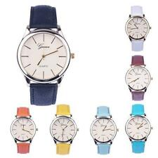 Contracted Womens Ladies Casual Watches leather band Analog Quartz Wrist Watch