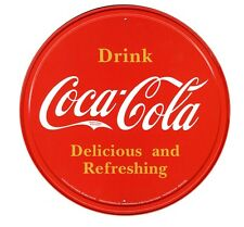 New Coca Cola Bottle Top Logo Coke Metal Tin Sign