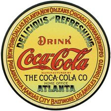 New Coca Cola Vintage Keg Label Coke Metal Tin Sign