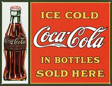 New Coca Cola The Christmas Bottle Coke Metal Tin Sign