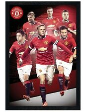 Manchester United Black Wooden Framed Star Players 2014/15 Maxi Poster 61x91.5cm