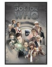 Doctor Who Gloss Black Framed Time Lords Through Time Poster 61x91.5cm