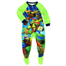TMNT Ninja Turtles Boys Fleece Union Suit Sleeper Pajamas NJ289BBFZA 4 6 8 10