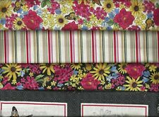 Quilting Treasures ~ Floral Stripes Panels ~ U PICK 100% Cotton Quilt Fabric BTY