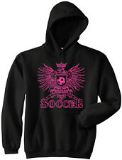 Girls Soccer Play Hard Hooded Pullover Sweat Jersey New Youth & Adult Sizes