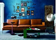 FAMILY IS Vinyl Lettering Words Wall Art Quote Sticky Decals Sticker Dinning