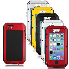New Gorilla Glass Metal Cover Case for iPhone 5S 5SE 4S 6S Waterproof Shockproof