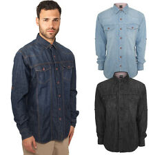 URBAN CLASSICS HEAVY DENIM SHIRT MEN'S DENIM JEANS SHIRT JACKET WAISTCOAT