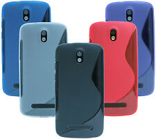 HTC Desire 500 Shell Mobile Phone Case Pouch Silicone protector Gel + Screen