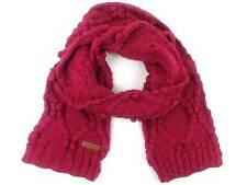 O ' Neill Knit Scarf Winter Scarf Sunne Pink Chunky Knitted Pom Poms