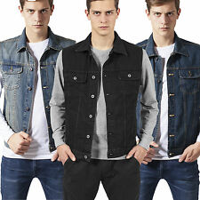 Urban Classics Men's Denim Vest Jeansweste Jeans Denim Jacket Vest Jeans Jacket