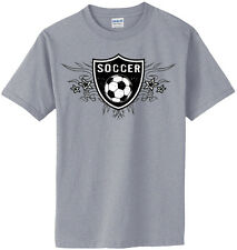 Soccer Shield T-Shirt Jersey Short Sleeve or Long Sleeve Tee New Youth & Adult