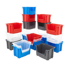 Plastic Parts Storage Picking Bins 50L Containers Strong Stacking Box 2 Colours