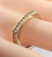 New ILLUMINATION by CRISLU .41ct CZ Squared Band Sterling Vermeil Ring