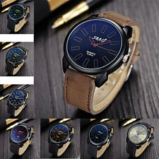 Stylish Classic Vintage Men's Waterproof Leather Strap Sport Quartz Army Watch