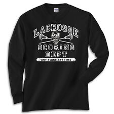 Lacrosse Athletic Black T-Shirt Jersey Long or Short Sleeve New Youth & Adult