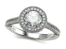 Zoe R Micro Pave Hand Set Cubic Zirconia (CZ) Engagement Ring