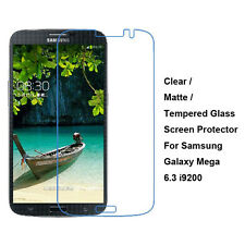 Tempered Glass/Clear/Matte Screen Protector For Samsung Galaxy Mega 6.3 i9200