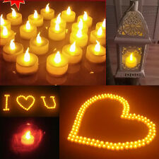 New Candles Tealight Led Tea Light Flameless Flickering Wedding Battery Include