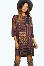 Boohoo Womens Jolie Paisley Shift Dress